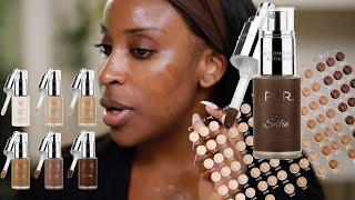 PUR Cosmetics 100 FOUNDATION SHADES?! I'm Confusion Luv | Jackie Aina