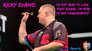 "Ricky Evans: ""I'm not here to lose First Round, I'm here to win tournaments"""