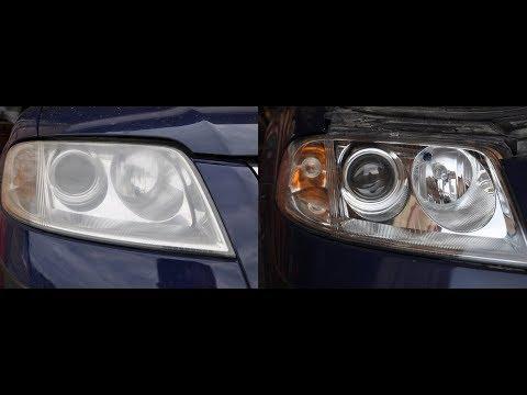 Восстановление фар Volkswagen Passat B5 с помощью лака Delta Kits Infinity видео