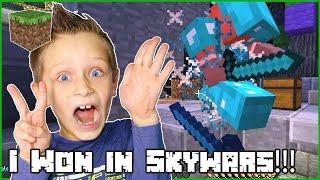 I Won Twice!!! / Minecraft Skywars