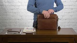 HOW TO PACK | The Santino M Mens Leather Messenger Bag