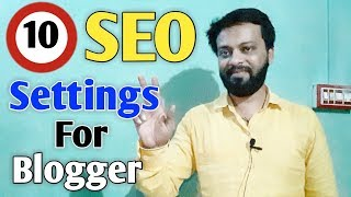 "{HINDI} Top 10 Recommended SEO Settings for New Blogger ""search engine optimization techniques"""