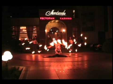 Огненное шоу в Харькове