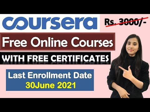 Coursera Free Certification Courses 2021, 64 Free Online Courses ...