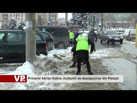 Primarul Adrian Dobre, mulțumit de deszăpezirea din Ploiești