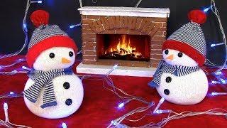 Снеговик из носка без шитья! Новогодний декор!