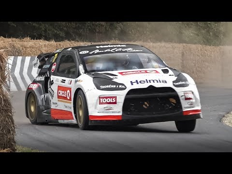 CRAZY Driving by 17-year-old Oliver Solberg in a 600hp Citroën DS3 RallyCross Supercar!