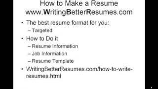 How to Make a Resume Pt.2- 4 Formats & When to Use PLUS a 3-Step Process to Create Targeted Resumes