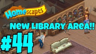 HOMESCAPES Gameplay Story Walkthrough Part #44 | New Library Area Day 1