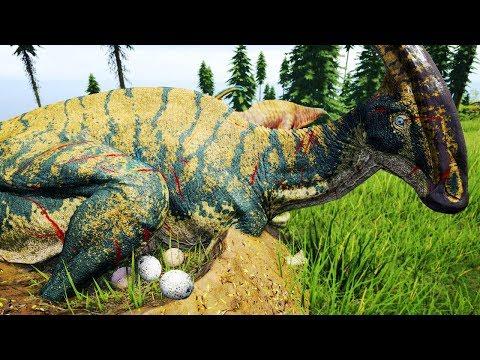 Família Parasaurolophus + Migração, Disputa de Território | The Isle Realismo PRELUDE | (PT/BR)