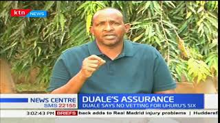 Majority Leader Aden Duale assures retained Cabinet Secretaries of no vetting