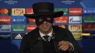Фонсека в маске Зорро: необычная пресс-конференция тренера Шахтера