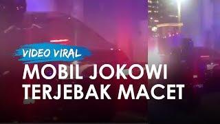 Viral Video Mobil Jokowi Terjebak Macet, Berhenti dan Sama Sekali Tak Bisa Bergerak