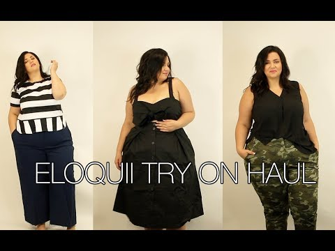 PLUS SIZE FASHION TRY ON HAUL | ELOQUII! LOTS of STYLING TIPS, SUPER CHATTY