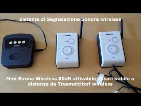 Mini Sirena wireless 80dB