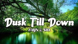 Dusk Till Down - ZAYN ft. Sia (Lyrics)