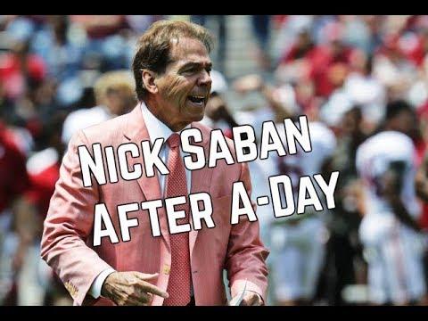 Nick Saban comments after Alabama Spring Football Game