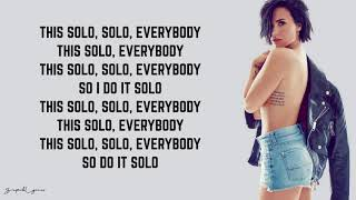 Clean Bandit - Solo (Lyrics) feat. Demi Lovato
