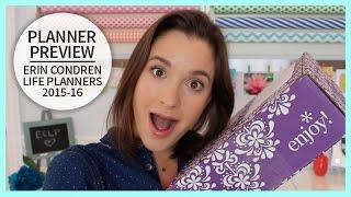Planner Preview | Erin Condren 2015 - 2016 Life Planners