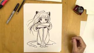 How To Draw A Manga Girl With Emotions - Step-by-Step