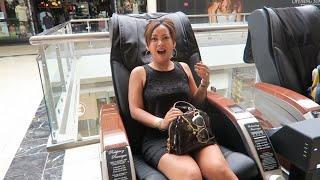 Vlog#1 Bad Experience with a Massage Chair at the Mall lol.