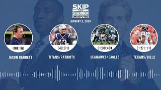 Jason Garrett, Titans/Patriots, Seahawks/Eagles, Texans/Bills | UNDISPUTED Audio Podcast