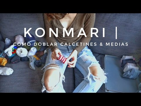 Cómo doblar calcetines & medias | Método KonMari por Marie Kondo