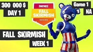 Fortnite Fall Skirmish Week 1 Day 1 Game 1 NA Highlights (Group 2) - Hold The Thrones