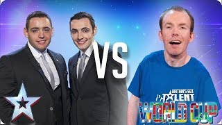 Richard & Adam vs Lost Voice Guy | Britain's Got Talent World Cup 2018 - Video Youtube