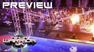 Our Ninja Warrior UK course for tonights show with floating tiles to