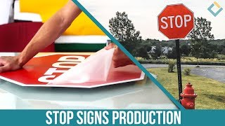 Aluminum Street Stop Signs production
