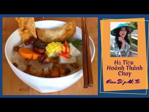 Hủ Tiếu Hoành Thánh Chay   Vegetarian Wonton Noodle Soup   Gian Bếp Mẹ Tôi