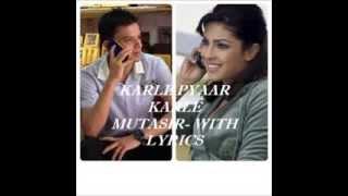 Mutasir | Karle Pyaar Karle | Javed Ali | Song | Lyrics - YouTube