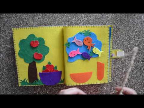 My Quiet Book, Fabric Activity Book For Children - Baby Quiet Book Ideas   Felt Book