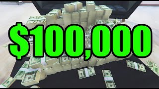 How to get $100,000 in One minute in GTA Online