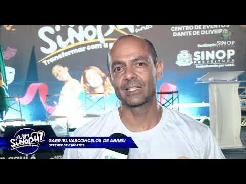 VEM SINOP TRANSFORMAR COM A GENTE! Gerente de Esportes, Gabriel Vasconcelos