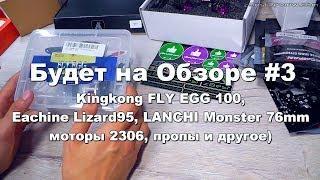 ✔ Будет на Обзоре #3 Kingkong FLY EGG 100, Eachine Lizard95, LANCHI Monster 76мм!