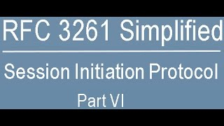 RFC 3261 Simplified: Session Initiation Protocol Part-Six