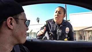 WHEN COPS PULL OVER COPS! *FAKE BEVERLY HILLS COP CAR*