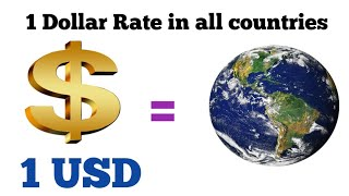 What $1 USD Equals around the world | Dollar Rate | Dollar to pound| gbp to usd | pound to us dollar