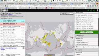 USGS Earthquake Map Settings