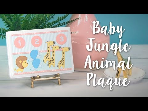 DIY Baby Jungle Animal Home Décor! Perfect Nursery Décor