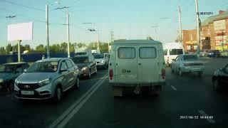 Загорелся автобус Ульяновск