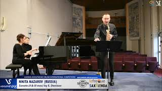 Nikita NAZAROV plays Sonate by E. Denisov #adolphesax