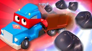 Детские мультики с грузовиками - Супер Мусоровоз помогает Гари собрать мусор - Супер Грузовик