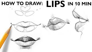 HOW TO DRAW: LIPS | Basic Steps (ENG Subtitles)