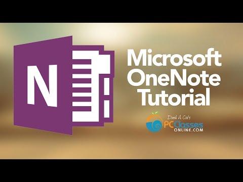 Microsoft OneNote Tutorial [Old Version] - YouTube