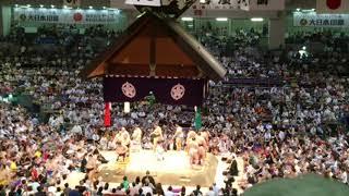 2018/7/18名古屋場所12日目@ドルフィンズアリーナ幕内土俵入り