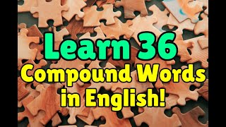 English Vocabulary: Compound Words