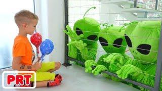 Vlad e crianças história sobre alienígenas